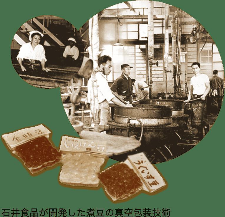 石井食品が開発した煮豆の真空包装技術